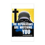 The GOP Is Watching! Sticker (Rectangle)