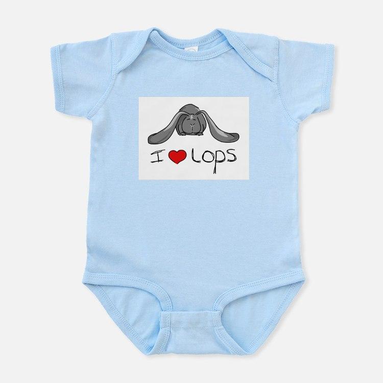 I Heart Lop Rabbits Infant Creeper