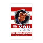 Hey YOU! Rectangle Sticker