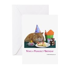 Purrfect Birthday Greeting Cards (Pk of 10)
