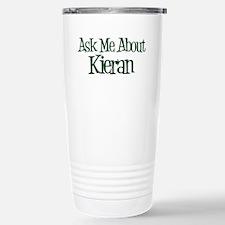 Ask Me About Kieran Travel Mug