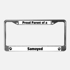 Proud: Samoyed License Plate Frame