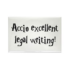 Accio excellent legal writing! Rectangle Magnet