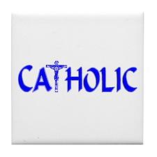 CATHOLIC (Blue) Tile Coaster