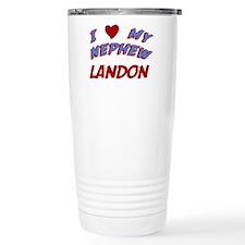 I Love My Nephew Landon Travel Mug