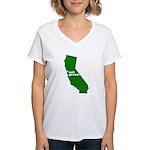 cali grown Women's V-Neck T-Shirt