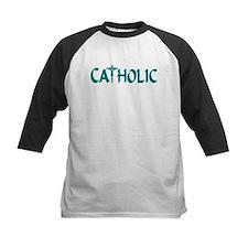 CATHOLIC (Teal) Tee