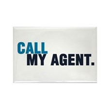 Call My Agent Rectangle Magnet