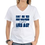 you wish Women's V-Neck T-Shirt