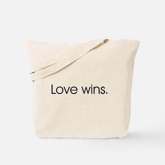 Love wins Tote Bag