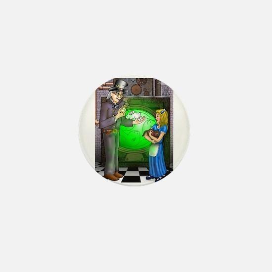 SteamPunk Alice Version 1 Mini Button