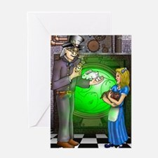SteamPunk Alice Version 1 Greeting Card
