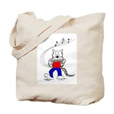Catoons™ Harmonica Cat Tote Bag