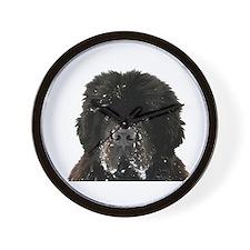 Big Black Dog Wall Clock