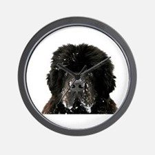Big Black Dog Wall Clock