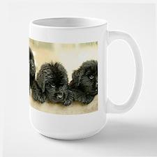 Big Black Dog Large Mug
