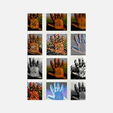 Collage of Left hands Rectangle Magnet