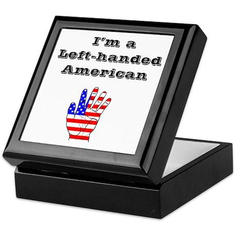 Left-handed American Keepsake Box