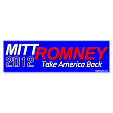 Mitt Romney 2012 Bumper Bumper Sticker