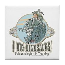 I Dig Dinosaurs Boy Tile Coaster