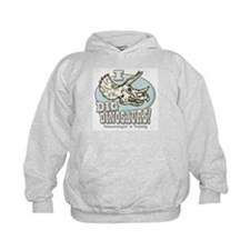 I Dig Dinosaurs Triceratops Hoodie