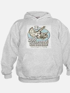 I Dig Dinosaurs Triceratops Hoodie