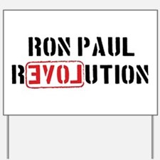 Funny Ron paul president Yard Sign