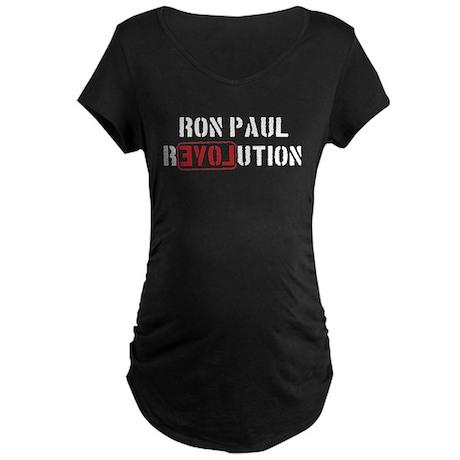 Ron Paul Revolution Maternity Dark T-Shirt
