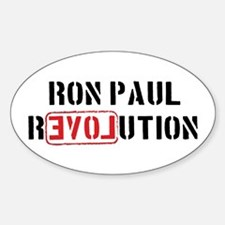 Ron Paul Revolution Oval Decal