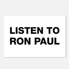 Listen to Ron Paul Postcards (Package of 8)