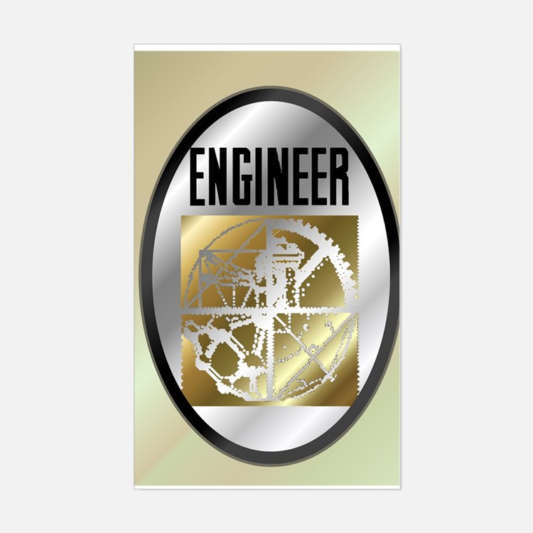 Engineers Rectangle Decal