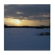 Winter Sunset 0238 Tile Coaster
