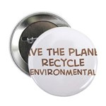 """Save the planet 2.25"""" Button (10 pack)"""