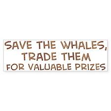 Save the whales 1 Bumper Bumper Sticker