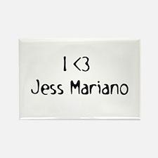 I Heart Jess Mariano Rectangle Magnet