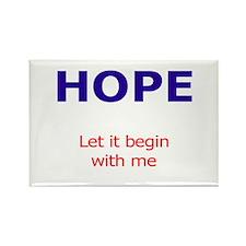 PeaceAndHope Rectangle Magnet (100 pack)