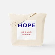 PeaceAndHope Tote Bag