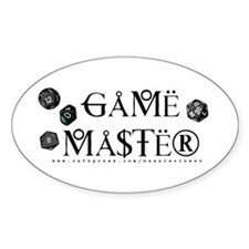 Game Master Oval Decal