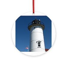 Nobska Point Lighthouse Ornament (Round)