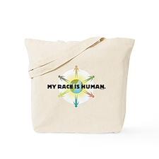 My Race Is Human Tote Bag