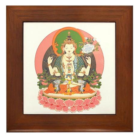 Chenrezig/Avalokiteshvara Framed Tile