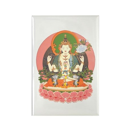 Chenrezig/Avalokiteshvara Rectangle Magnet