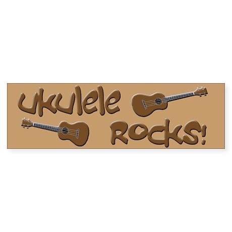 funny ukulele uke Bumper Sticker