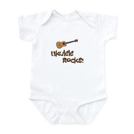 funny ukulele uke Infant Bodysuit