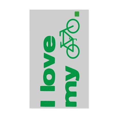 I love my bike (with image) Rectangle Sticker