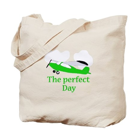 airplane perfect day Tote Bag