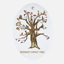 MEERKAT FAMILY TREE Oval Ornament
