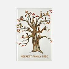 MEERKAT FAMILY TREE Rectangle Magnet
