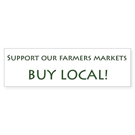Support Farmers Markets Bumper Sticker