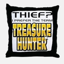 I Prefer Treasure Hunter Throw Pillow